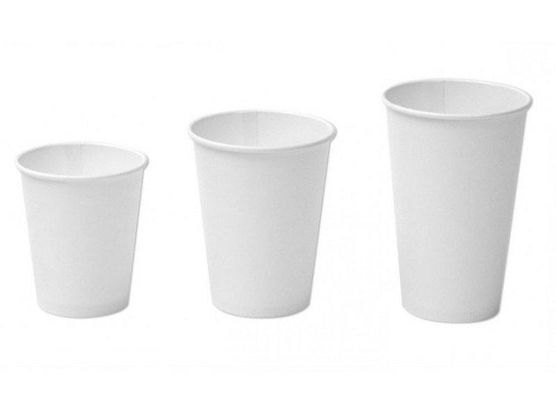 Eco Vaso de Cartón Polyboard Genérico Blanco