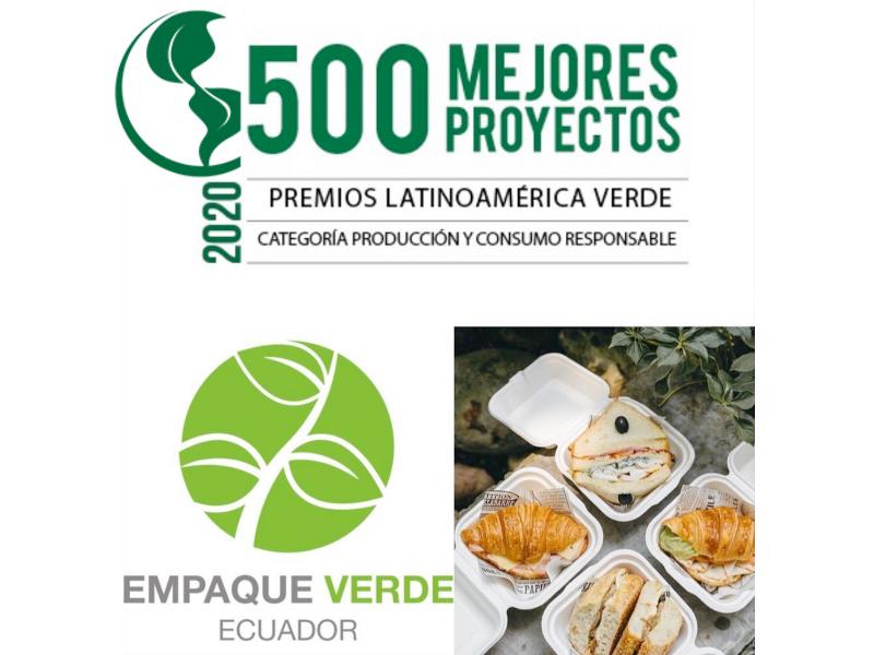 Empaque Verde Ecuador dentro del ranking 500 mejores proyectos Latinoamerica Verde 2020